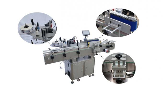 HAY SUS304 Servo Motor Automatic Round Bottle Labeling Machine PLC control