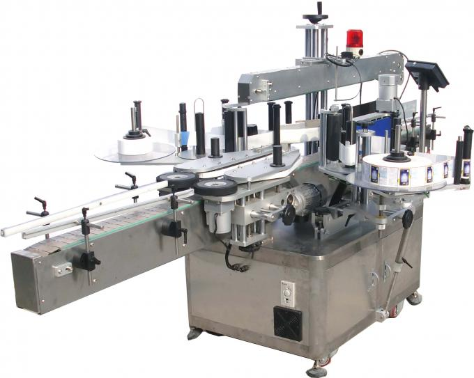 Electric eye automatic double side sticker labelling machine with turntable