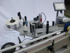 Aŭtomata ronda botela etikedmaŝino por ne-seka gluo, ligna ujo / eksporta pakita etikedmaŝino por CE