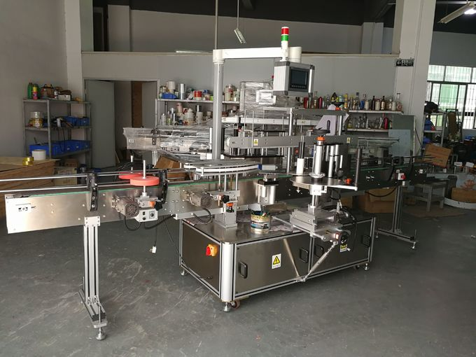Ovala Botela etikedmaŝino du glumarkoj sur boteloj 5000B / H - 8000B / H Kapacito por horo